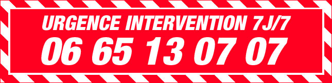 URGENCE INTERVENTION 7J/7 06 65 13 07 07